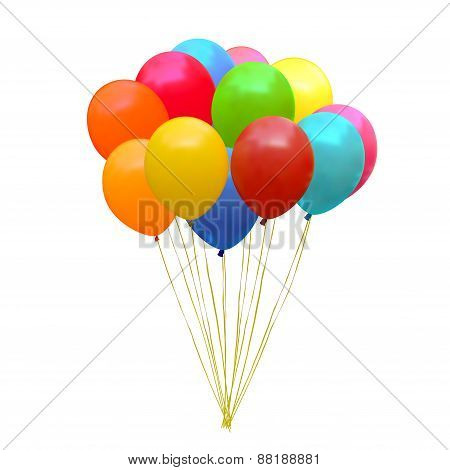Set Of Colourful Birthday Or Party Balloons