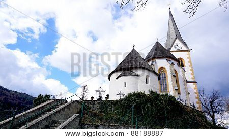 Historical Church In Klagenfurt Austria