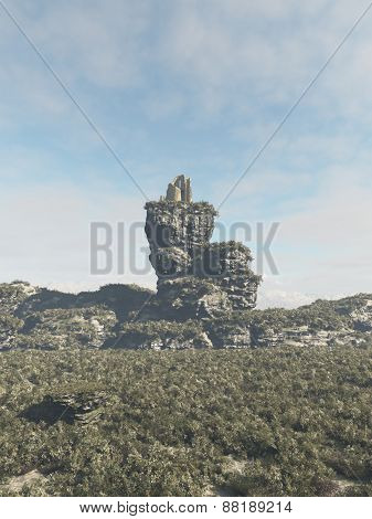 Ruined Tower on a Rocky Outcrop