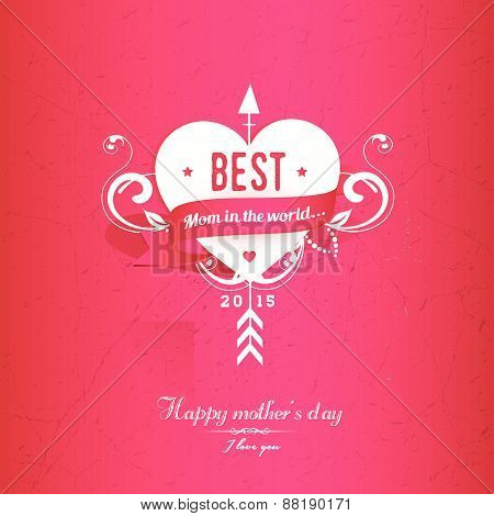 Pink  Mothers's Day Greeting Card