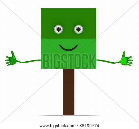 Tree Character Isolated