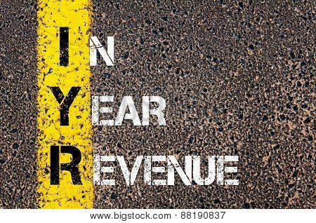 Business Acronym Iyr - In Year Revenue