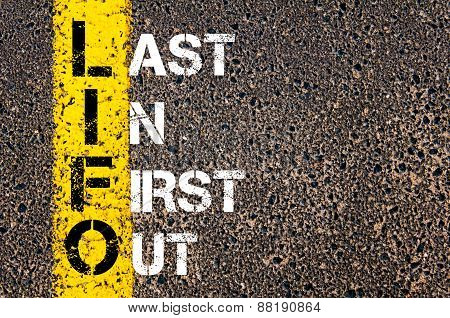 Business Acronym Lifo - Last In First Out