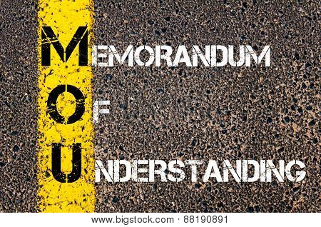 Business Acronym Mou - Memorandum Of Understanding