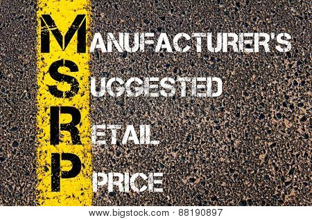 Business Acronym Msrp - Manufacturer's Suggested Retail Price