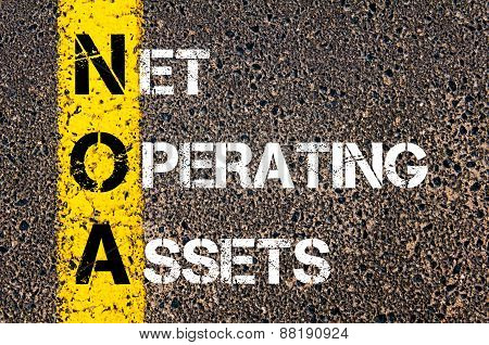 Business Acronym Noa - Net Operating Assets