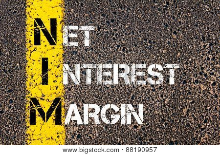 Business Acronym Nim - Net Interest Margin