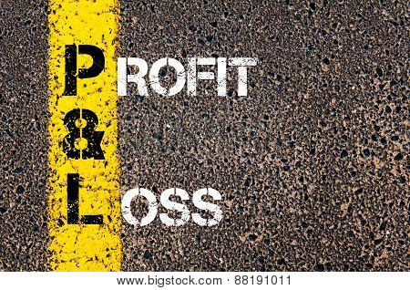 Business Acronym P&l - Profit And Loss