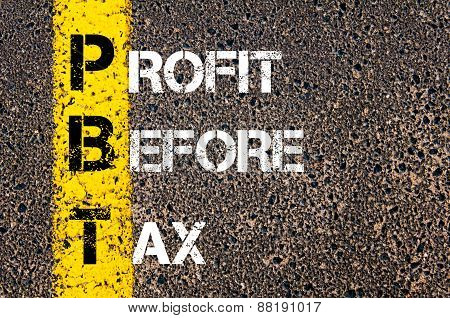 Business Acronym Pbt - Profit Before Tax