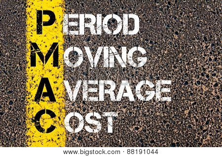 Business Acronym Pmac - Period Moving Average Cost