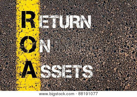 Business Acronym Roa - Return On Assets