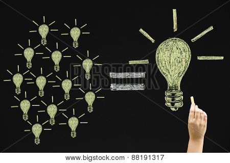 Many Small Light Bulbs Equal A Big One
