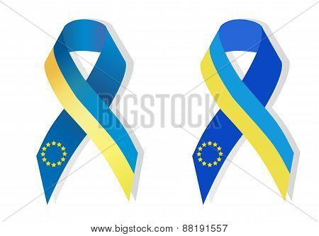Blue And Yellow Ribbon Awareness