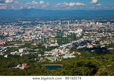 The view of Chiang Mai town