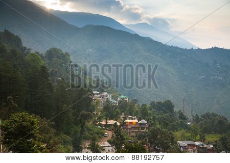 Sunrise over McLeodGanj, India