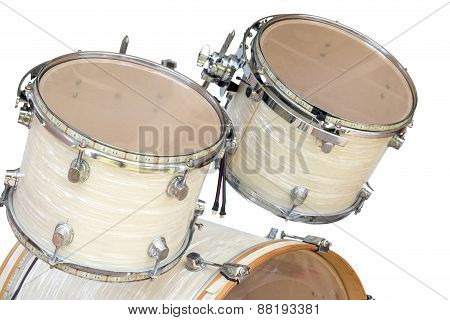 Tom For Drum Set Isolated On White Background