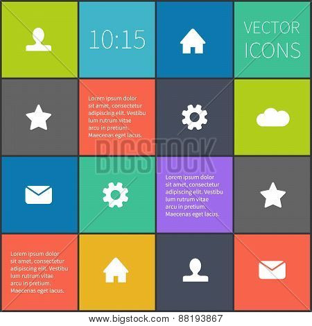 vector colorful squared ui