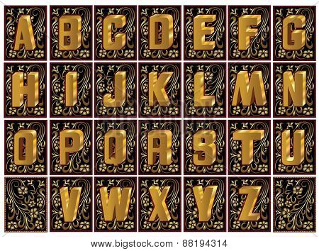 Letter Gold Luxury Royal Collection