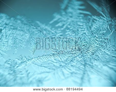 Supermacro Of Frost Pattern