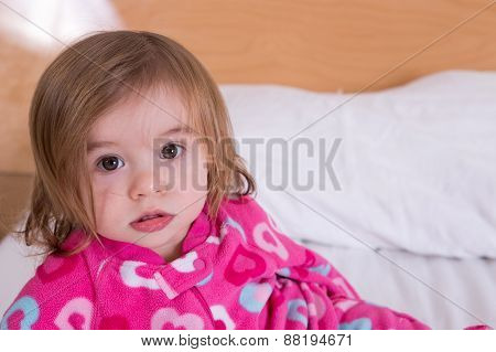 Cute Young Girl Just Awoken From Her Sleep