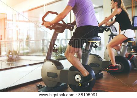 Healthy Couple In A Sport Centre