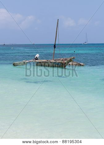 Dhow boat in Tanzania, Africa
