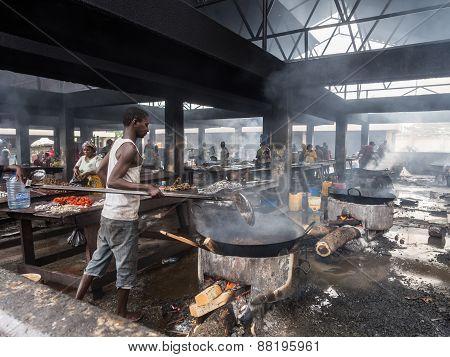 Fish market in Dar es Salaam, Tanzania
