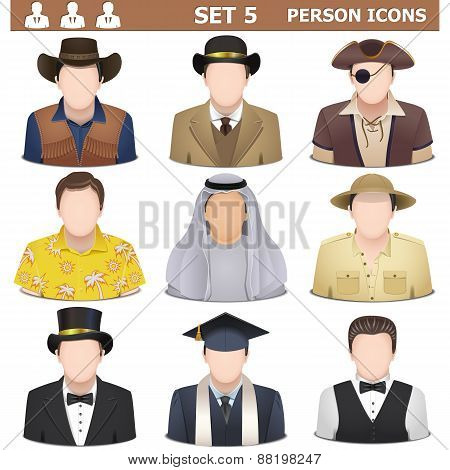 Vector Person Icons Set 5