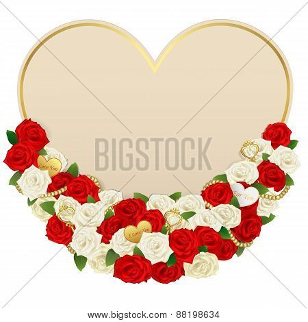 Vector Romantic Flower Card