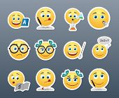 pic of emoticons  - Funny and cute emoticons students in the classroom - JPG