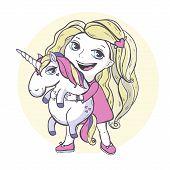 stock photo of unicorn  - Vector illustration - JPG