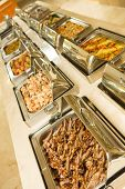 picture of buffet lunch  - The food buffet in restaurant - JPG