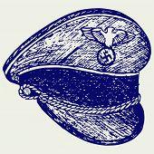 foto of hitler  - German cap WWII - JPG