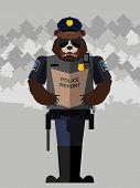 foto of beast-man  - Bear police officer - JPG