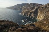 stock photo of cliffs  - The Slieve League cliffs in Co - JPG