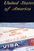 picture of passport template  - the stamp of approval for admission to the united states - JPG