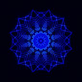 picture of cosmic  - The Abstract cosmic star snowflake - JPG