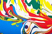 picture of acrylic painting  - Abstract acrylic modern painting fragment - JPG