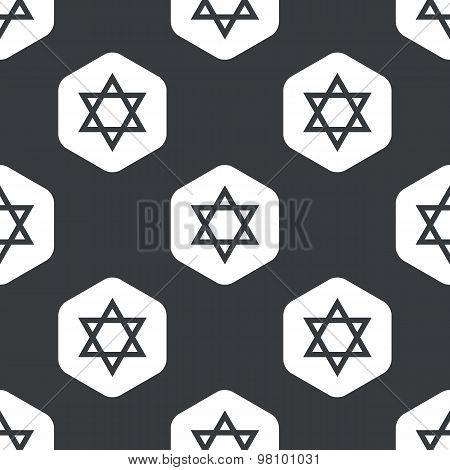 Black hexagon Star David pattern