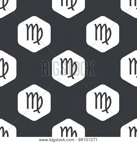 Black hexagon Virgo pattern