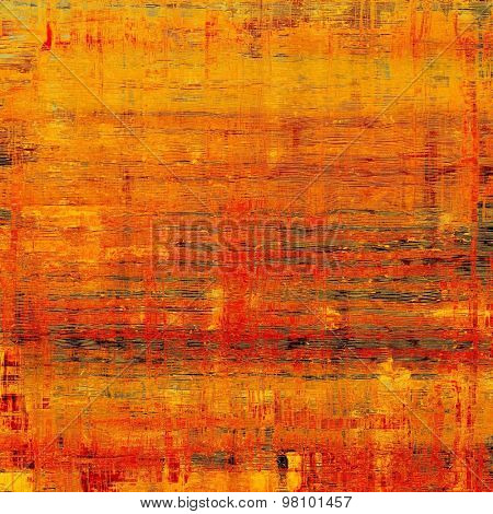 Grunge colorful background. With different color patterns: yellow (beige); brown; red (orange); gray