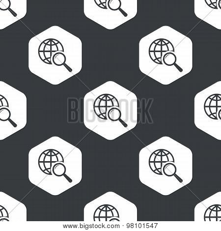 Black hexagon global search pattern