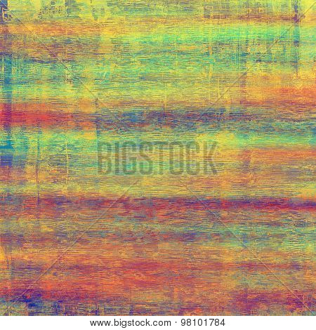 Old grunge antique texture. With different color patterns: yellow (beige); blue; purple (violet); red (orange); green