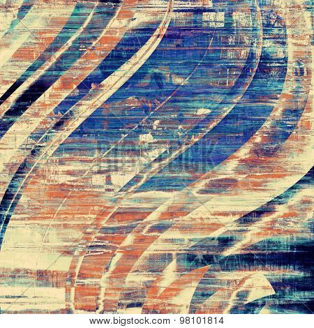 Grunge texture. With different color patterns: yellow (beige); brown; blue; cyan