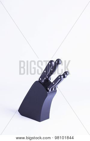 Black Knifeblock Isolated On White