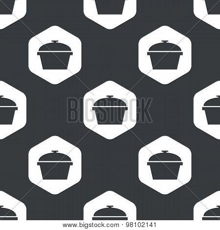 Black hexagon pot pattern