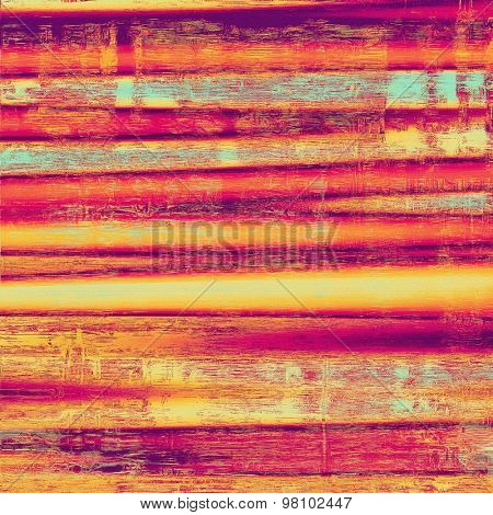 Old grunge background with delicate abstract texture and different color patterns: yellow (beige); purple (violet); red (orange); cyan