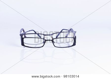 Specatles Isolated On White Background