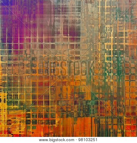 Abstract grunge background. With different color patterns: yellow (beige); brown; purple (violet); green