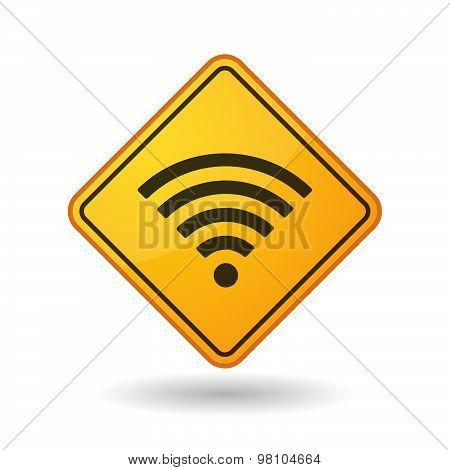 Awareness Sign With  A Radio Signal Sign